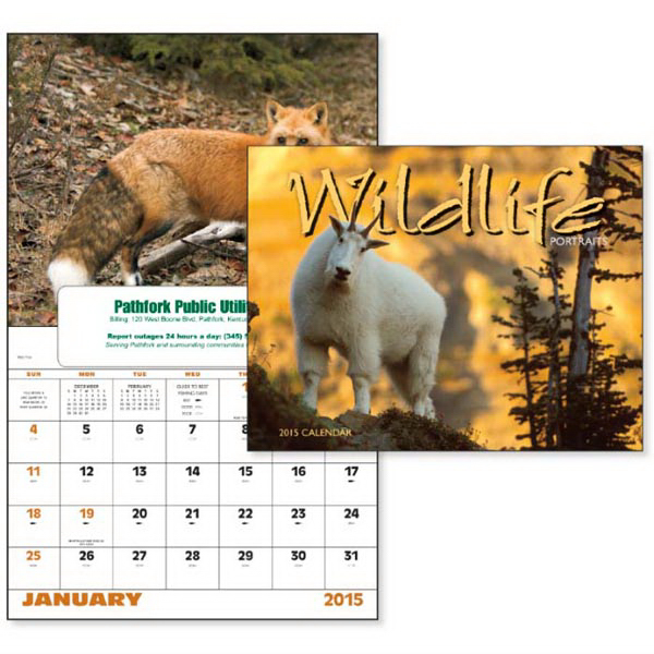 Printed Wildlife Portraits - Window Appointment Calendar
