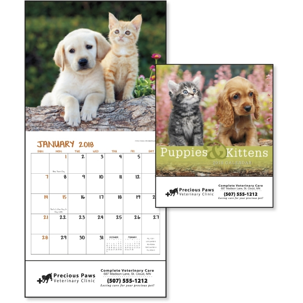 Promotional Puppies & Kittens - Mini Calendar
