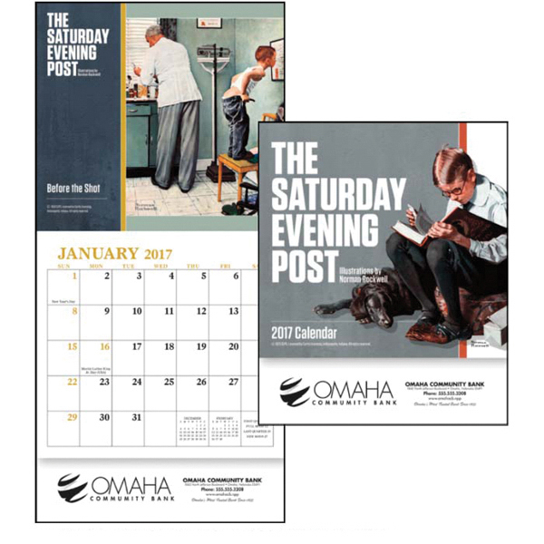 Printed The Saturday Evening Post - Mini Calendar