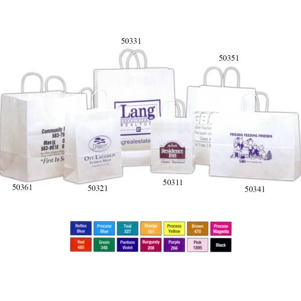 Promotional White Kraft Paper Bag
