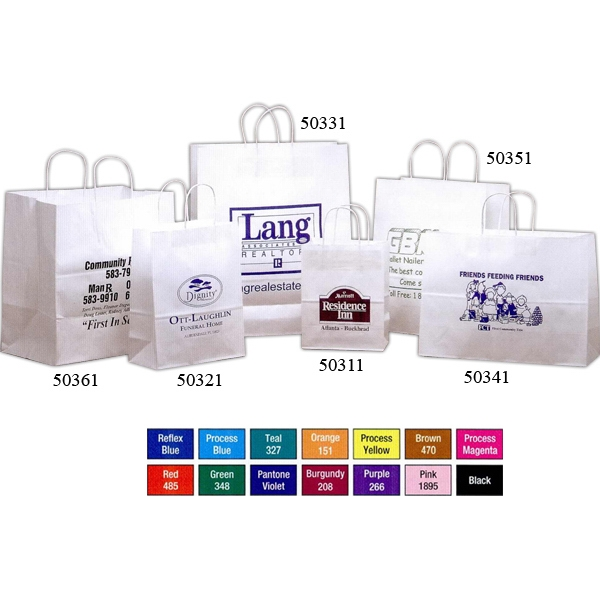 Customized White Kraft Paper Bag