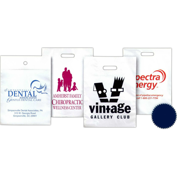 Personalized Full Color Printed Plastic Cotton Drawstring Bag