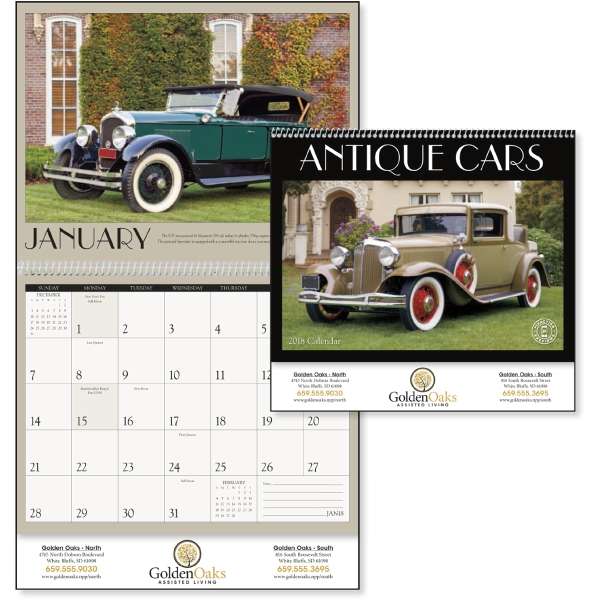 Imprinted Antique Cars