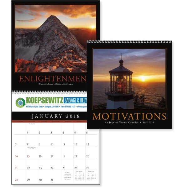 Customized Motivations Calendar