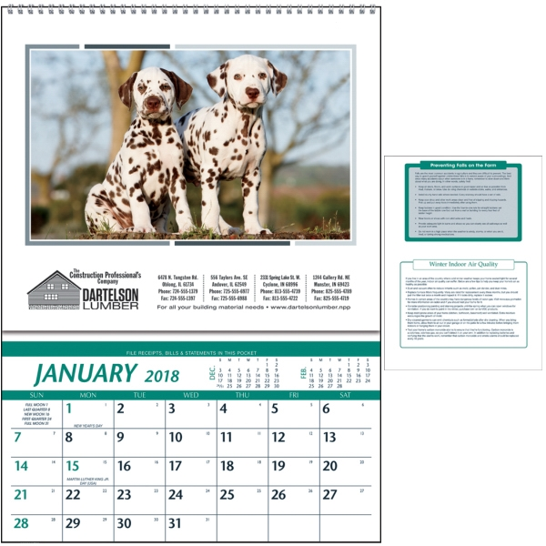 Promotional Farm Pocket Calendar