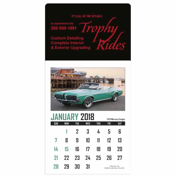 Customized Memorable Muscle Stick Up Calendar