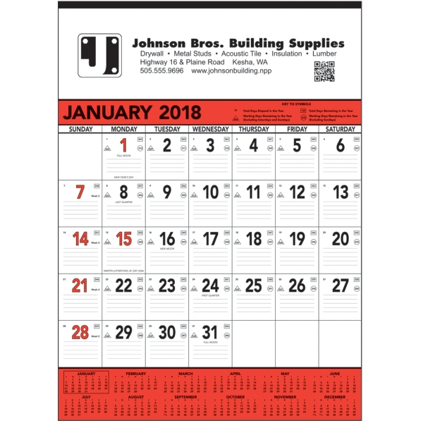 Personalized Red & Black Contractor's Memo - 13-sheet