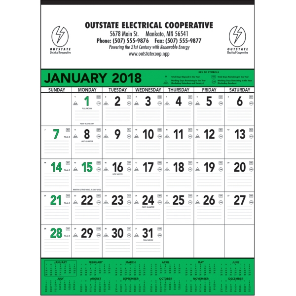 Customized Green & Black Contractor's Memo - 13-sheet