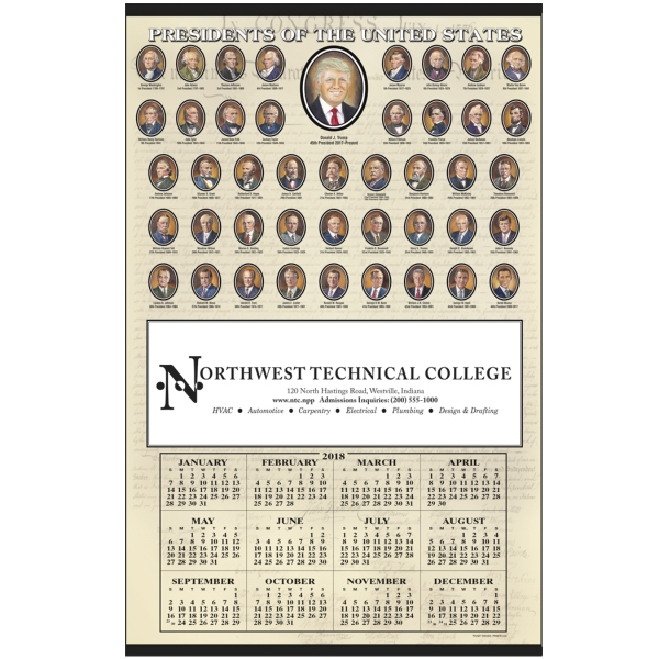 Printed Presidents Hanger Span-A-Year