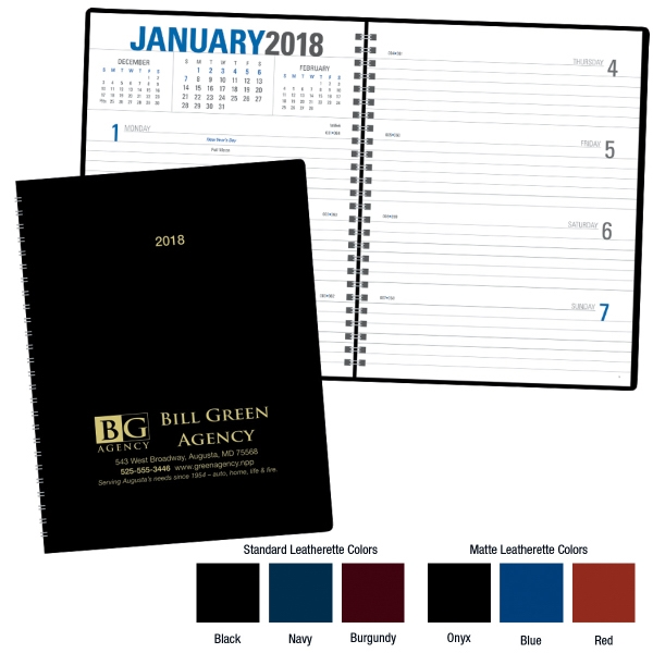 Imprinted Classic Weekly Planner