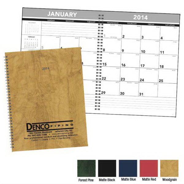 Custom Hardcover Monthly Planner
