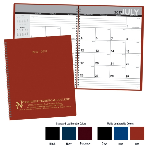 Imprinted Academic Monthly Planner