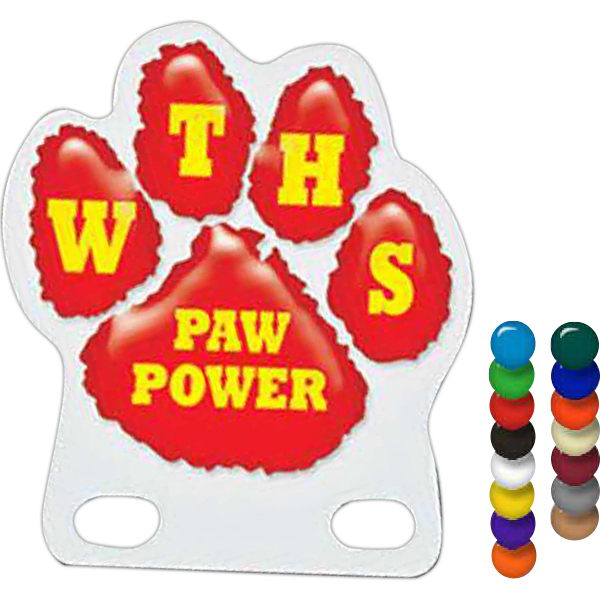 Custom Paw Pencil Pennant