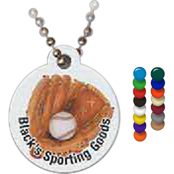 Imprinted Circle Spirit Tag