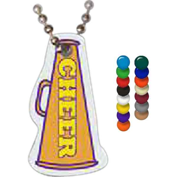 Personalized Megaphone Spirit Tag