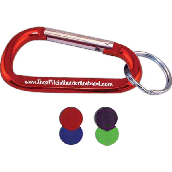 Imprinted Carabiner with Ring