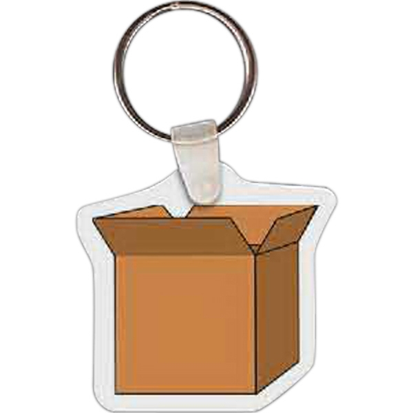 Imprinted Open Box Key tag