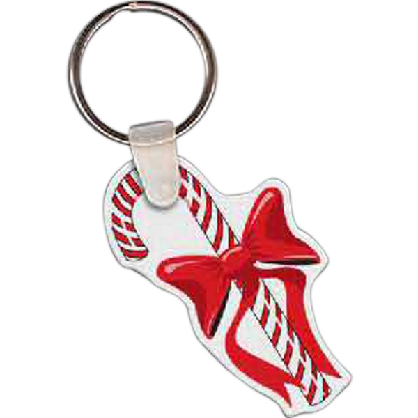 Personalized Candy Cane Key Tag