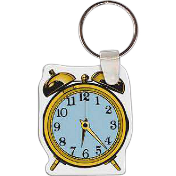 Printed Alarm Clock Key Tag