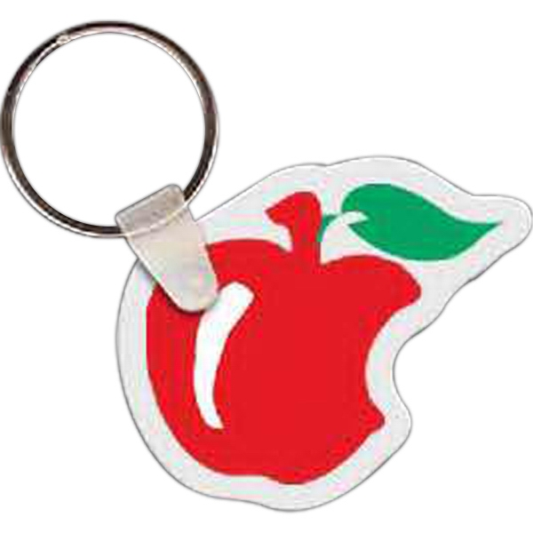 Imprinted Apple with Bite Key Tag