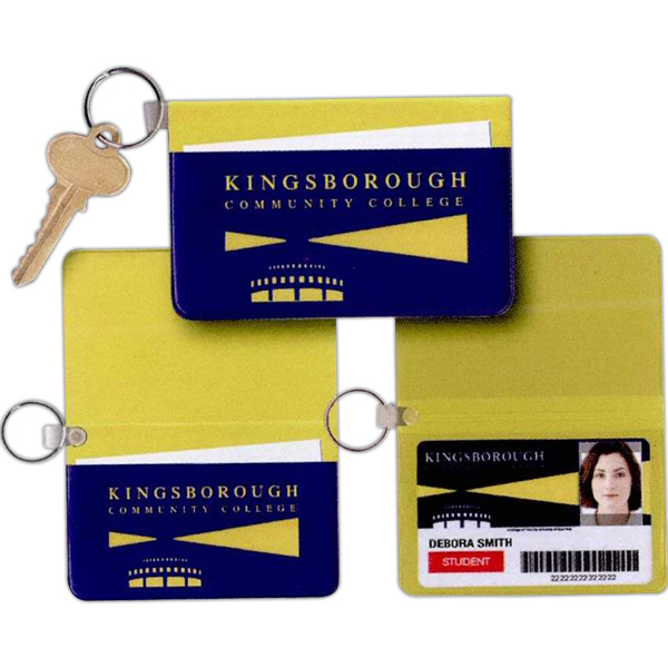 Personalized Card Case with Key Ring