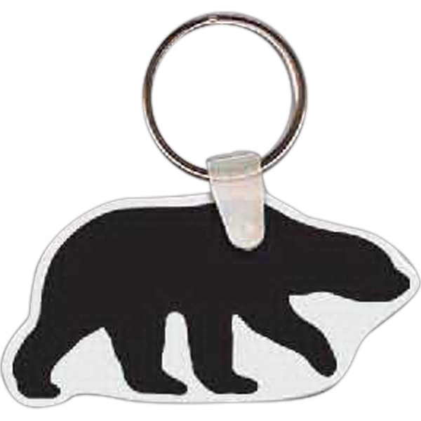 Printed Bear Key Tag