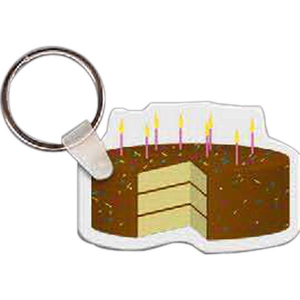 Customized Birthday Cake with Sprinkles Key Tag