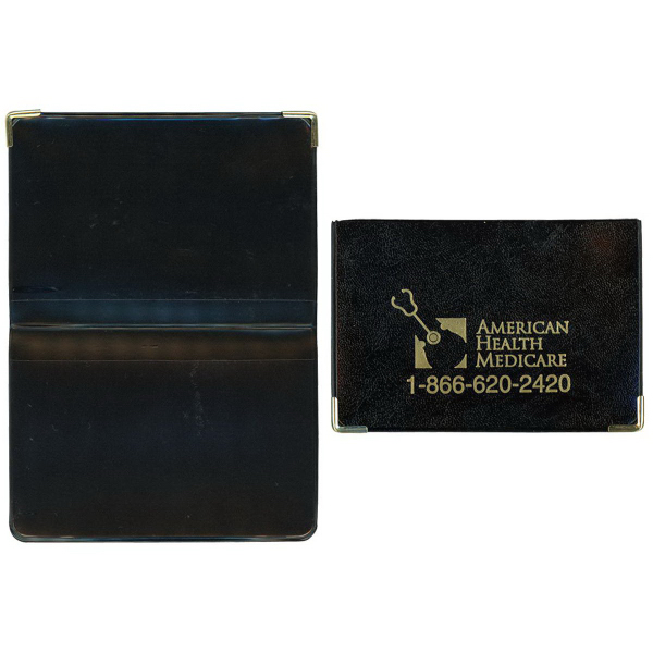 Printed Castillion Vinyl Foldover Card Case with Metal Corners