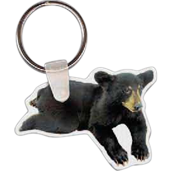 Printed Bear Cub Key Tag