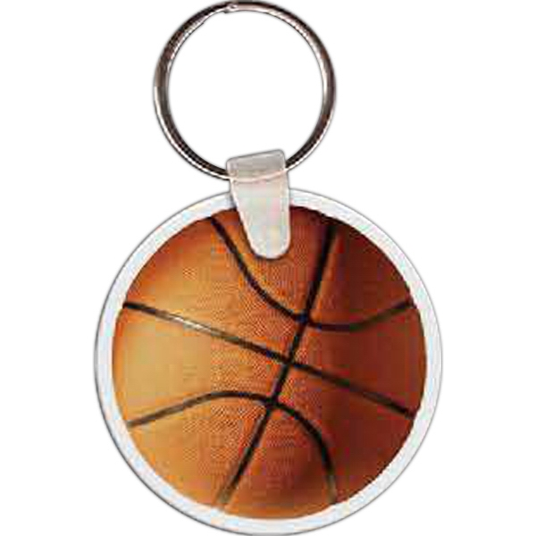 Imprinted Basketball Key Tag