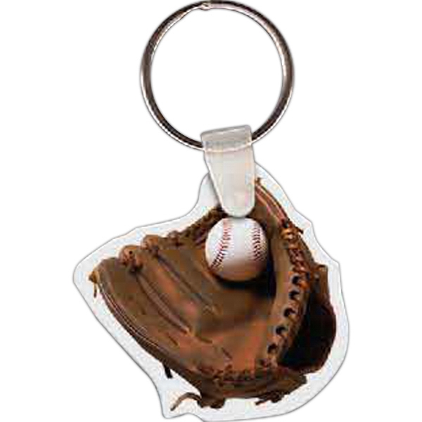 Imprinted Baseball & Mitt Key Tag