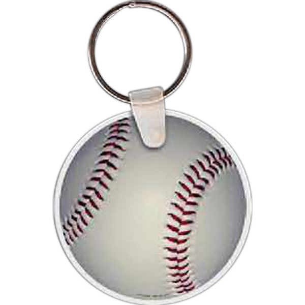 Printed Baseball Key Tag