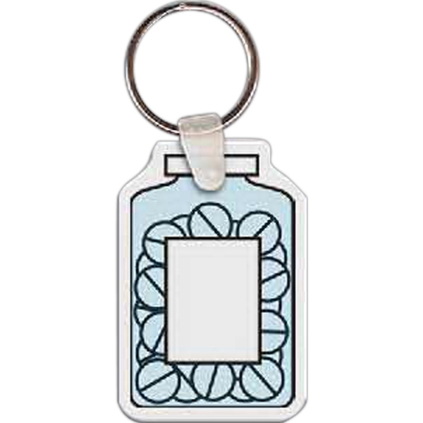 Printed Bottle of Pills Key Tag