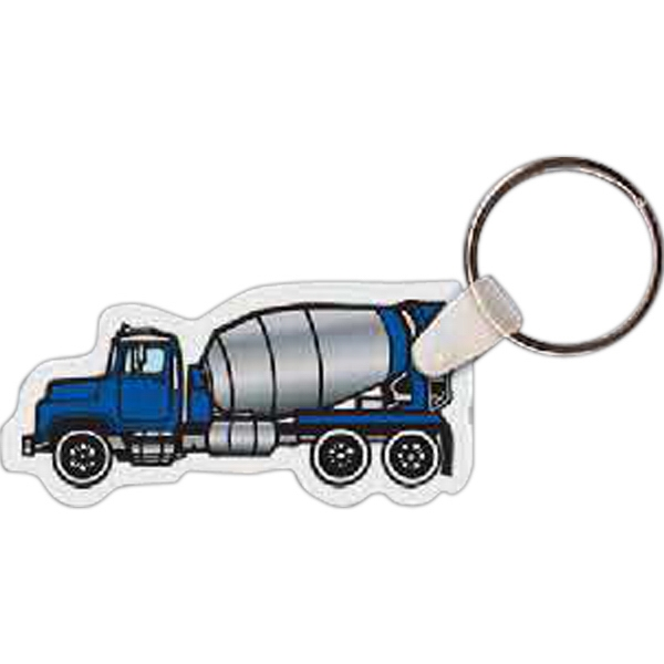 Imprinted Cement Truck Key Tag