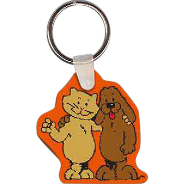 Imprinted Cat & Dog Key Tag