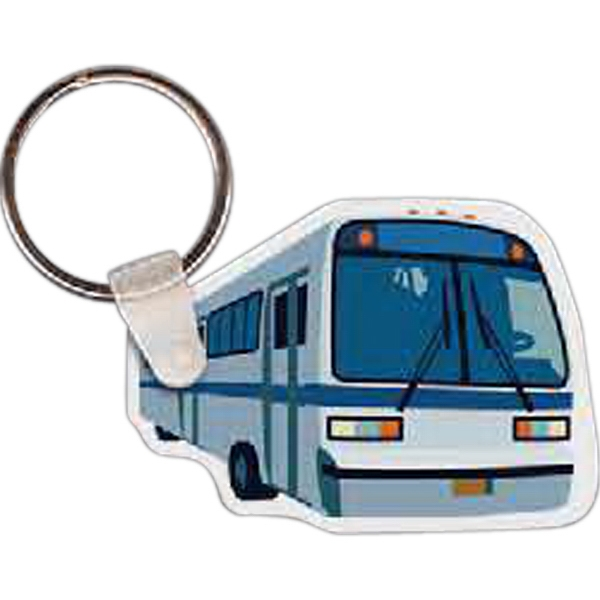 Printed Charter Bus Key Tag