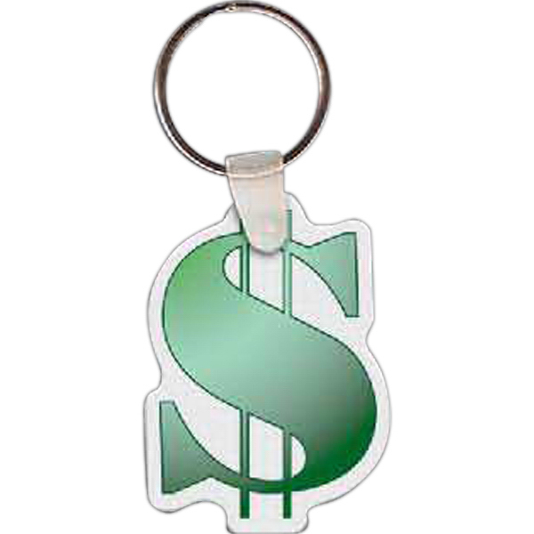 Printed Dollar Sign Key Tag