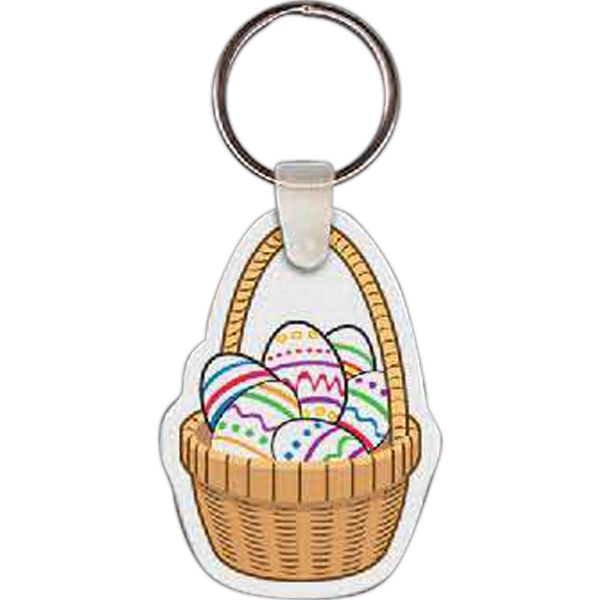 Printed Easter Egg Basket Key Tag