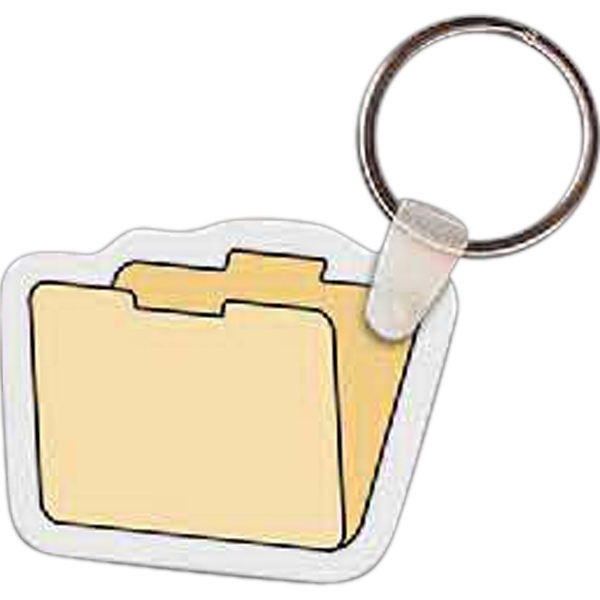 Imprinted File Folder Key Tag