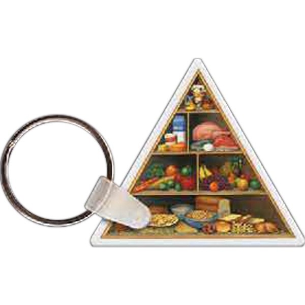 Customized Food Pyramid Key Tag
