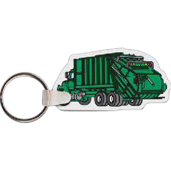 Personalized Garbage Truck Key Tag
