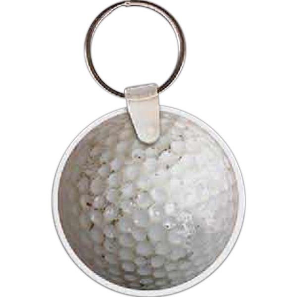 Imprinted Golf Ball Key Tag