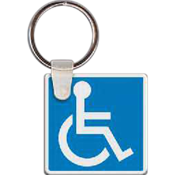 Customized Handicap Sign Key Tag