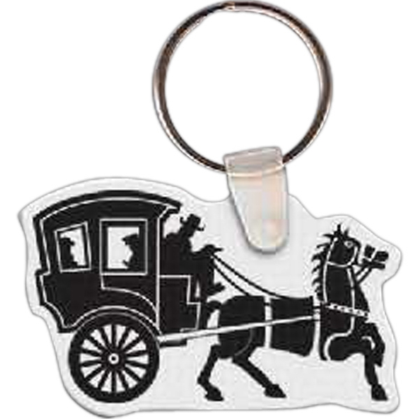 Custom Horse & Buggy Key Tag
