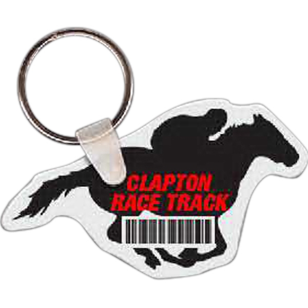 Custom Horse with Rider Key Tag