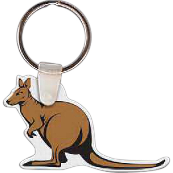 Imprinted Kangaroo Key Tag