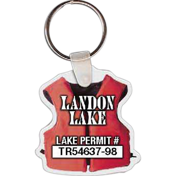 Printed Life Vest Key Tag