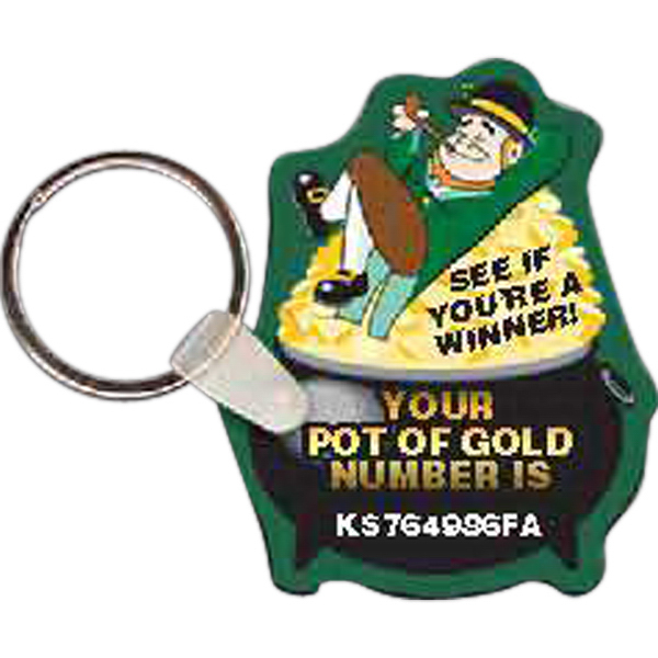 Imprinted Leprachuan w/ Pot of Gold Key tag