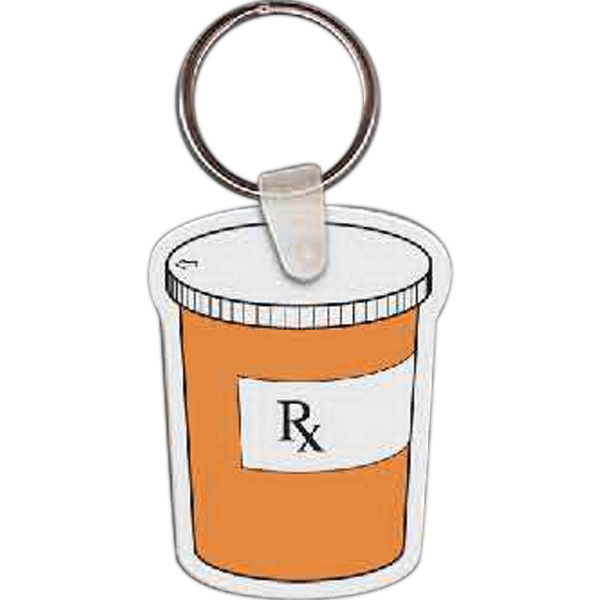 Printed Pill Bottle Key Tag