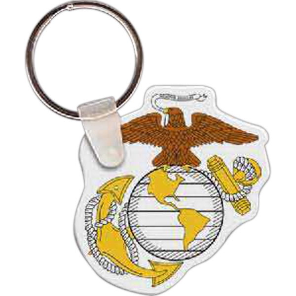 Imprinted Marines Logo Key Tag